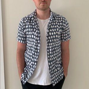TOPMAN Short Sleeve Button Down Shirt